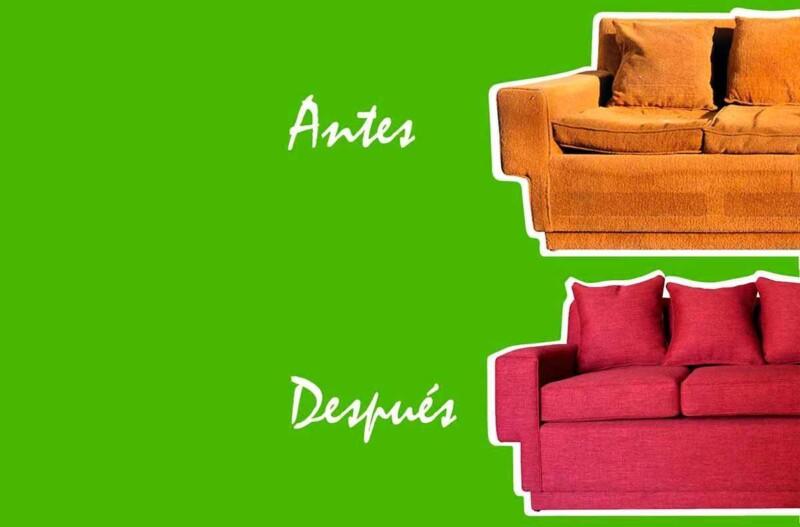 retapizado restauración de sofá antes y después