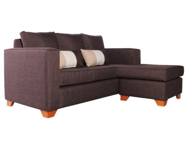 Sofa 3 Cuerpos Milan Chaise Longue Intercambiable Bariloche Chocolate iso
