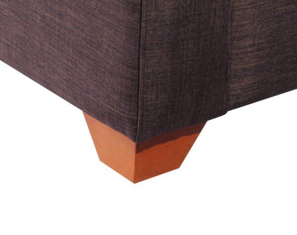 Sofa 3 Cuerpos Milan Chaise Longue Intercambiable Bariloche Chocolate patas de madera