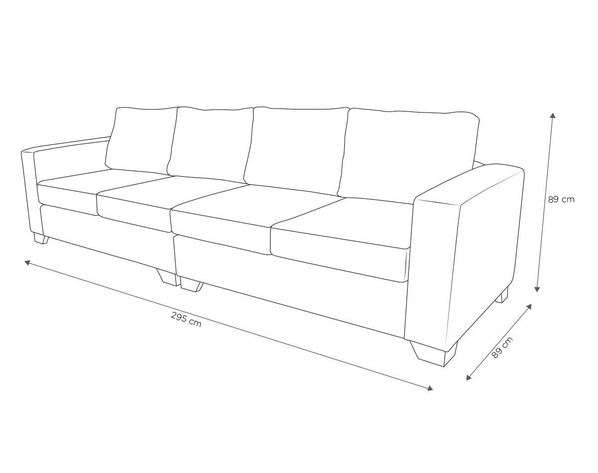 Sofa 4 Cuerpos Monaco