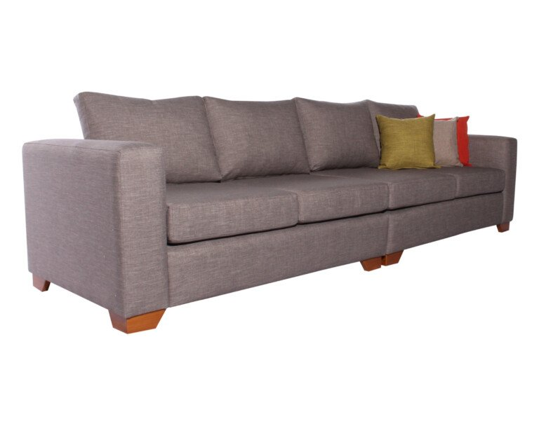 Sofa Modular 4 Cuerpos Monaco Bariloche Alto Trafico Gris iso
