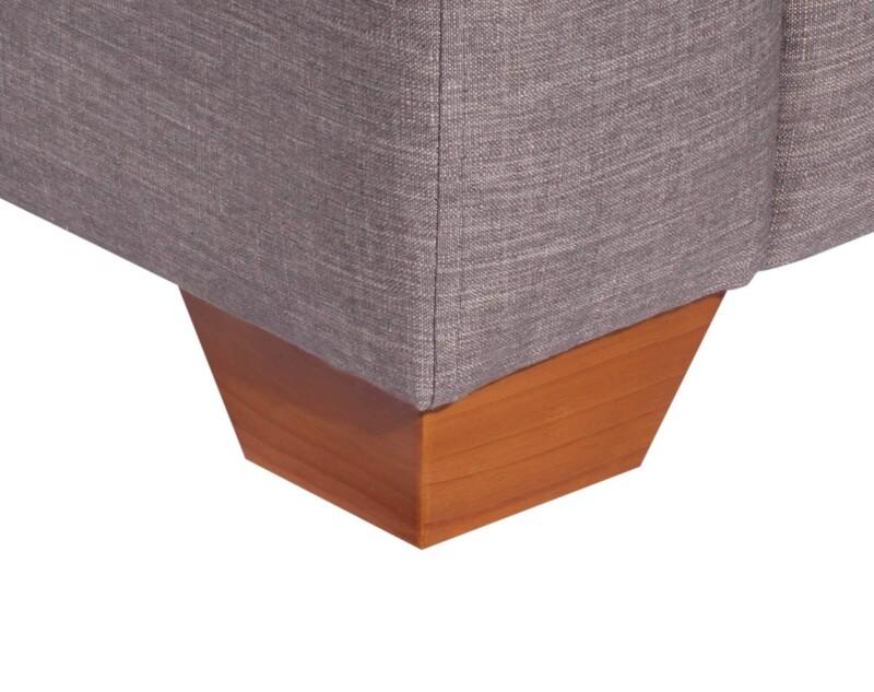 Sofa Modular 4 Cuerpos Monaco Bariloche Alto Trafico Gris patas de madera