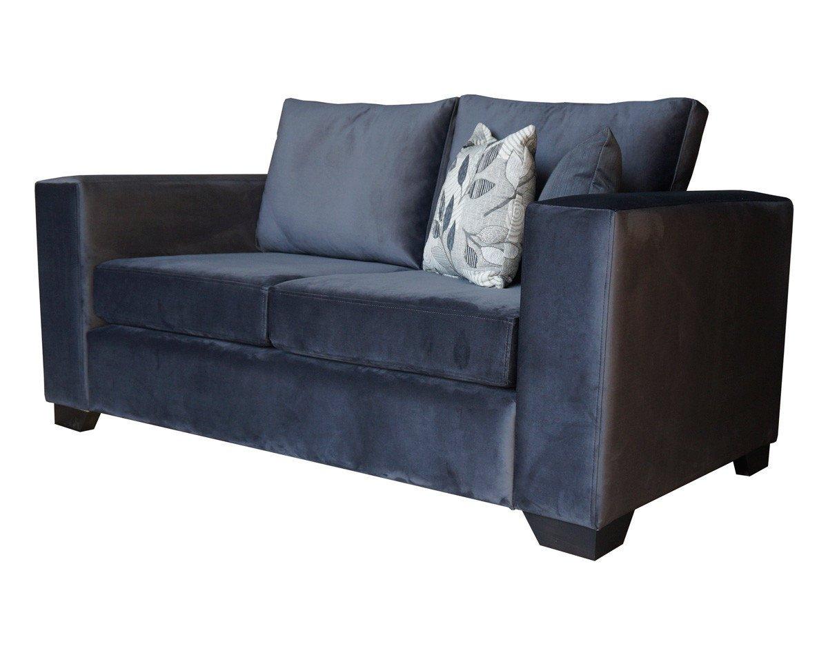 Sofa Monaco de dos cuerpos tapiz de felpa color gris 2