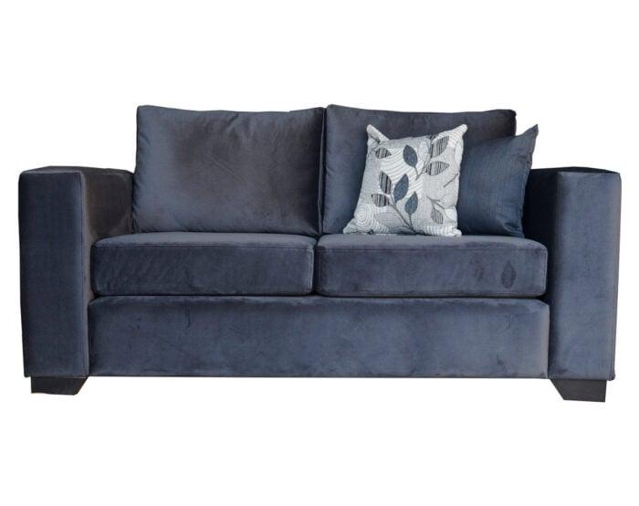 Sofa Monaco de dos cuerpos tapiz de felpa art color gris
