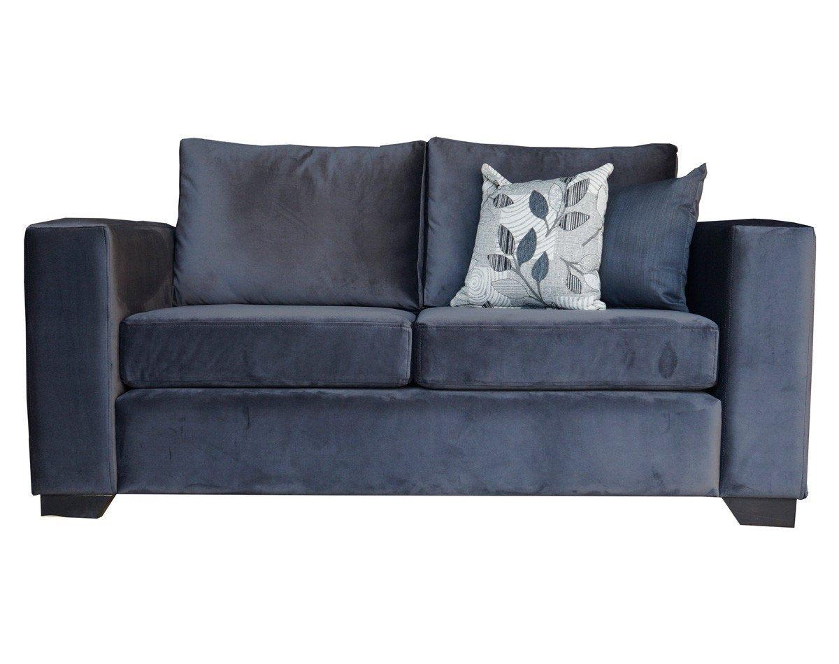 Sofa Monaco de dos cuerpos tapiz de felpa color gris