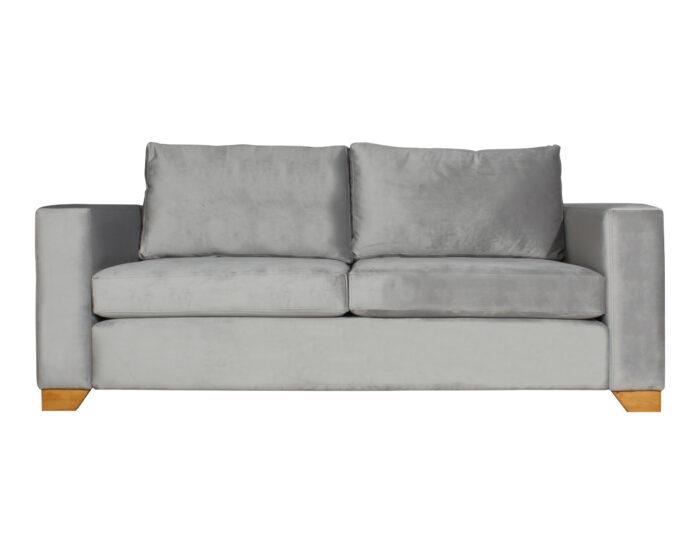 Sofa Thomas Felpa Art Gris Pata Miel Angulo 200 Cms