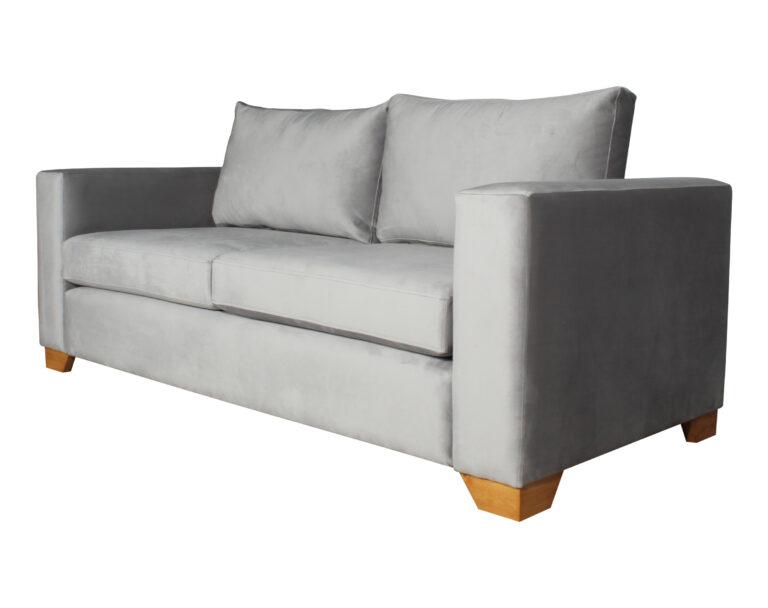 Sofa Thomas Felpa Art Gris Pata Miel Angulo 200 Cms Iso