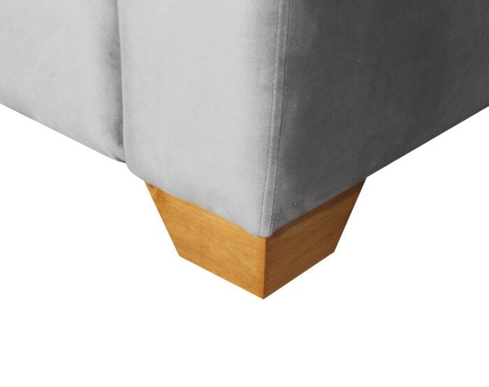 Sofa Thomas Felpa Art Gris Pata Miel Angulo 200 Cms Pata