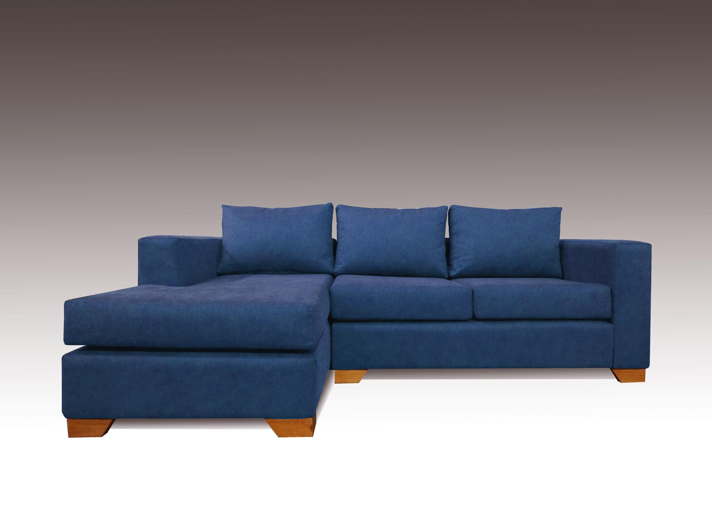 Sof seccional m naco chaise longue izquierdo calafate for Chaise longue azul turquesa