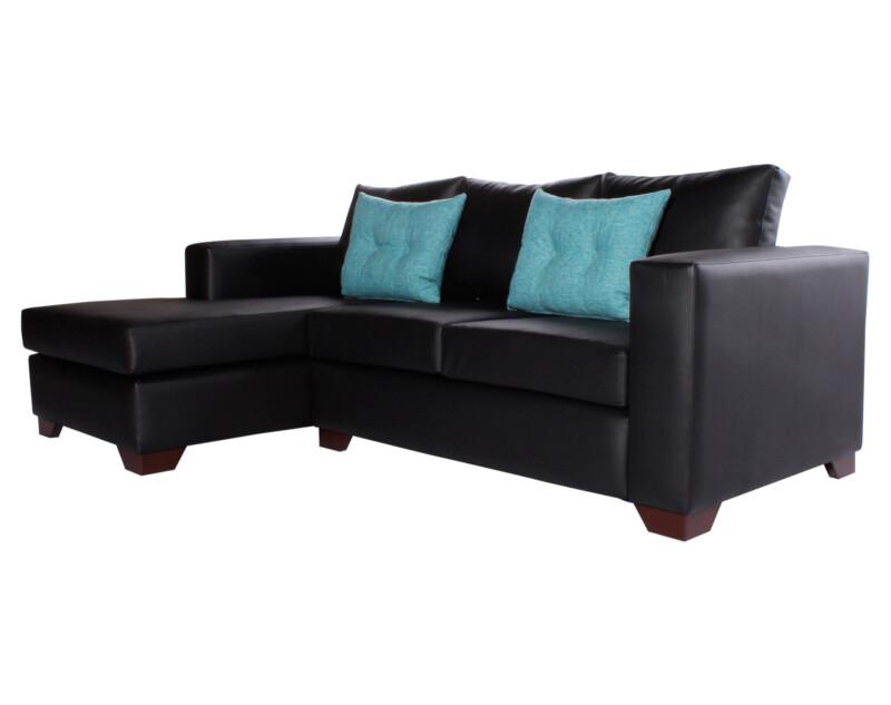 Sofa Seccional Izquierdo Monaco Cuero Sintetico PU Pana iso
