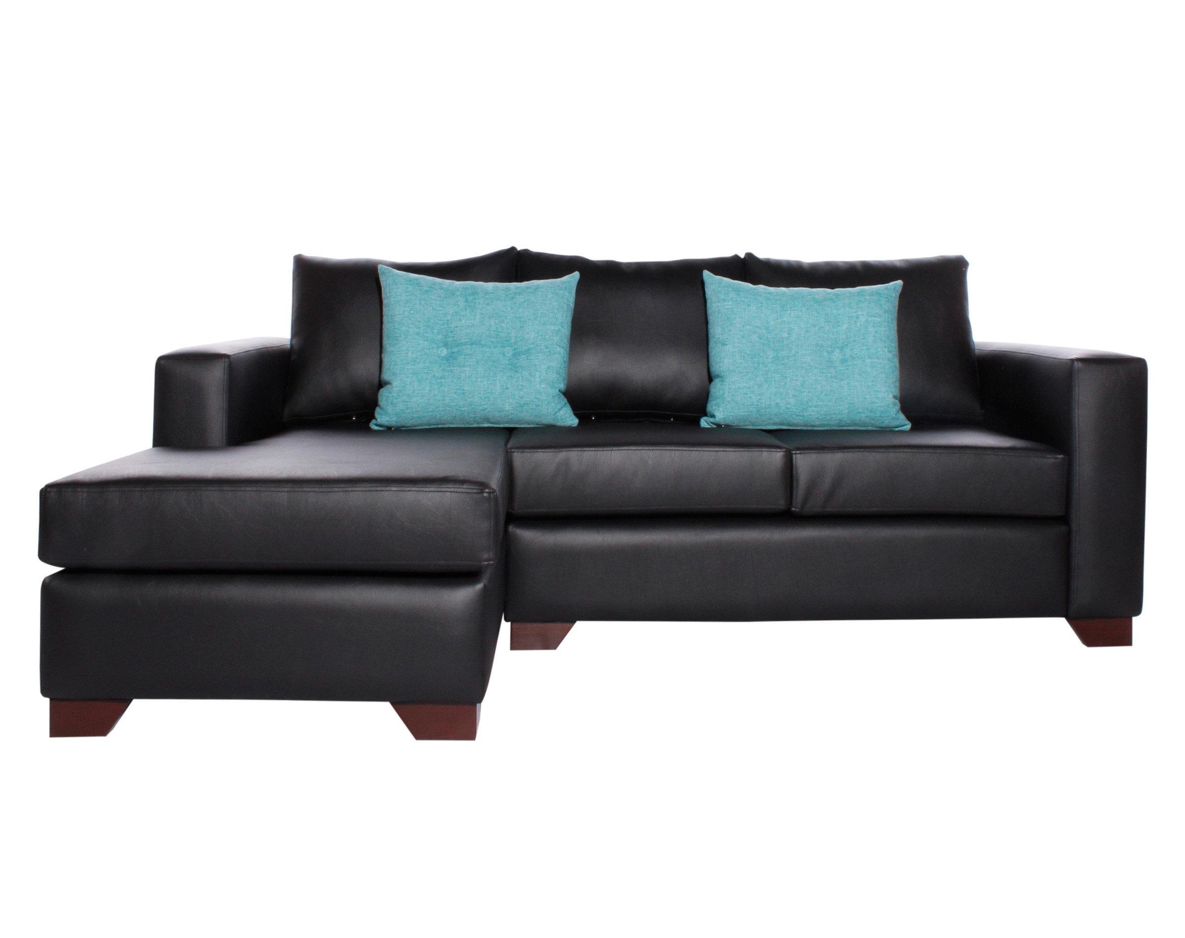 Sofa Seccional Izquierdo Monaco Cuero Sintetico PU Pana