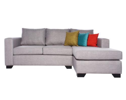 Sofa Seccional Monaco Chaise Longue Derecho Tucuman Gris Claro