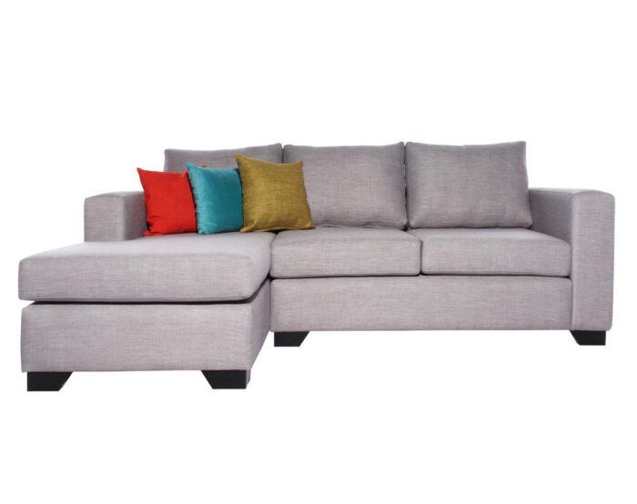 Sofa Seccional Monaco Chaise Longue Izquierdo Tucuman Gris Claro