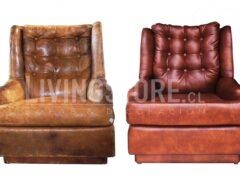 Retapizado sillon de cuero