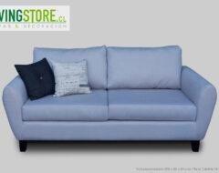 Proyecto sofá personalizado 2 Cuerpos brazo curvo Calafate gris claro