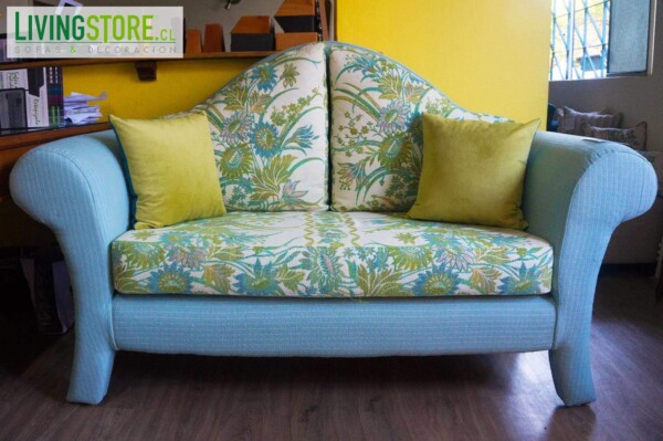 Retapizado sofá vintage tapiz chenille importado USA