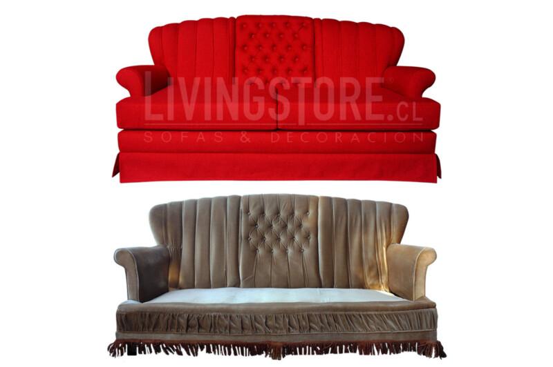 Restauración de antiguo sofá estilo clásico