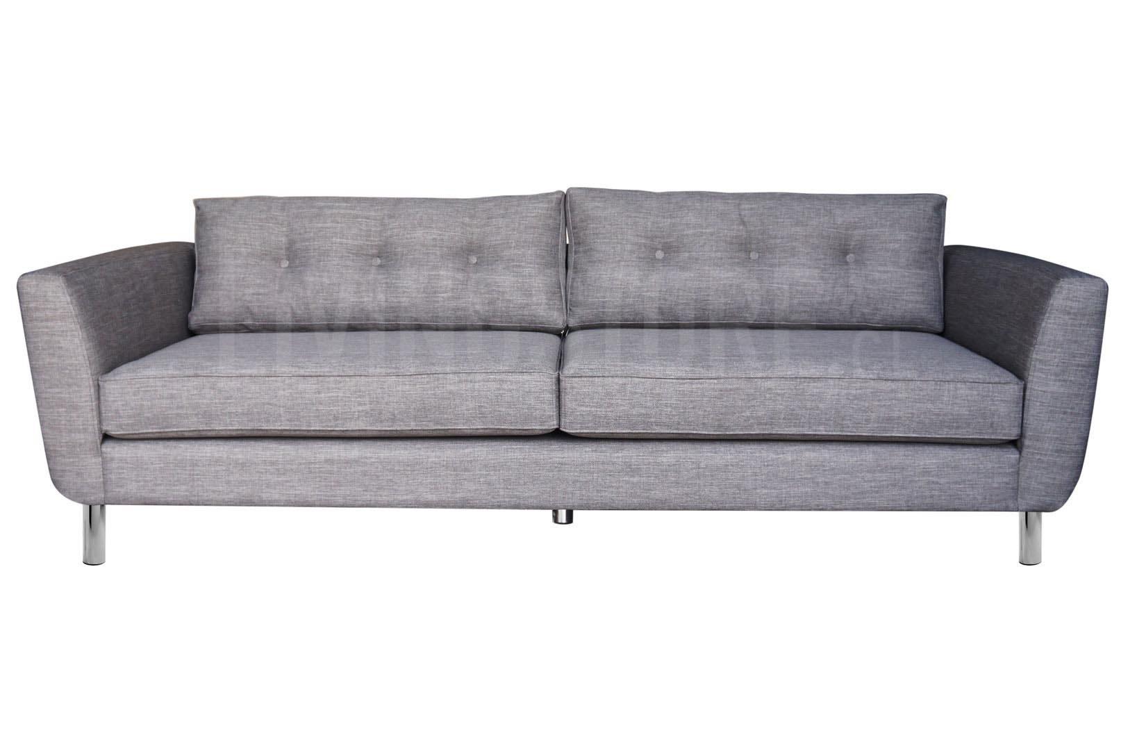 Sofá personalizado 3 Cuerpos pata metálica tucumán gris