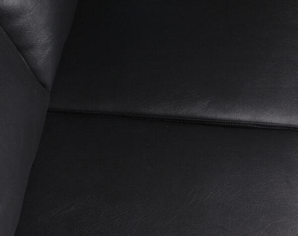 Sofa Seccional Derecho Monaco Cuero Sintetico PU Pana tapiz