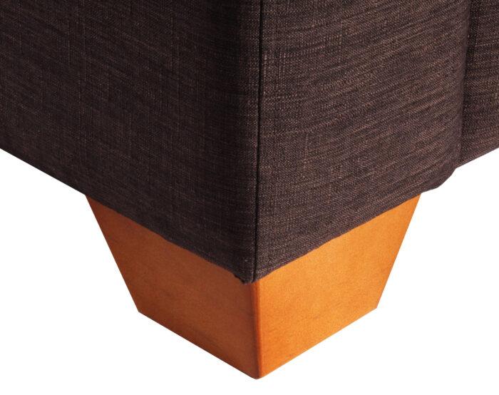 Patas de madera color miel para sofa
