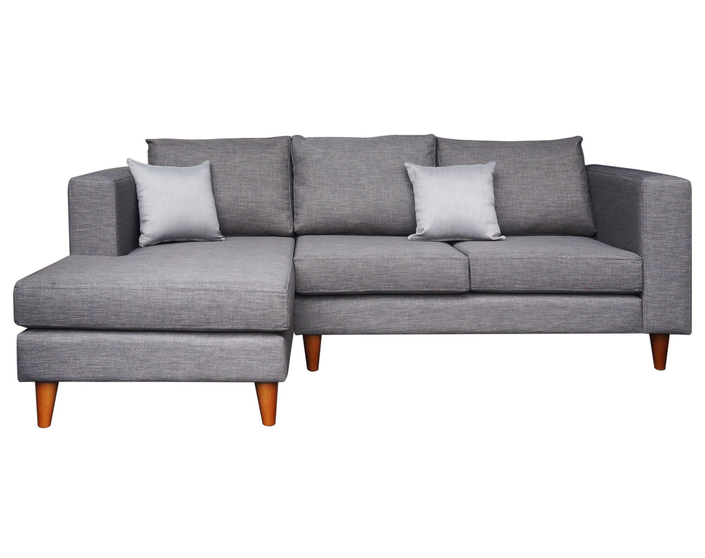 Sof seccional gris con patas c nicas livingstore cl for Sofa modular gris