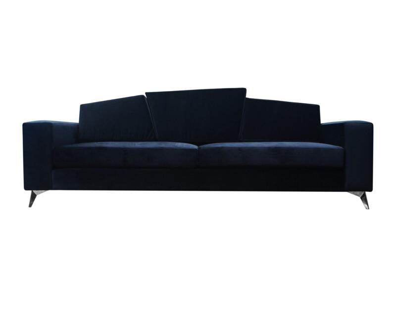 Sofá 3 Cuerpos Personalizado Con Cojines de Respaldo Angulares