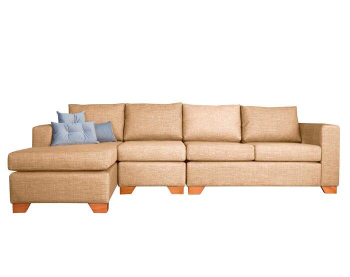 Sofá seccional izquierdo con butaca