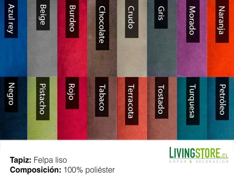 gama de colores tapiz felpa liso