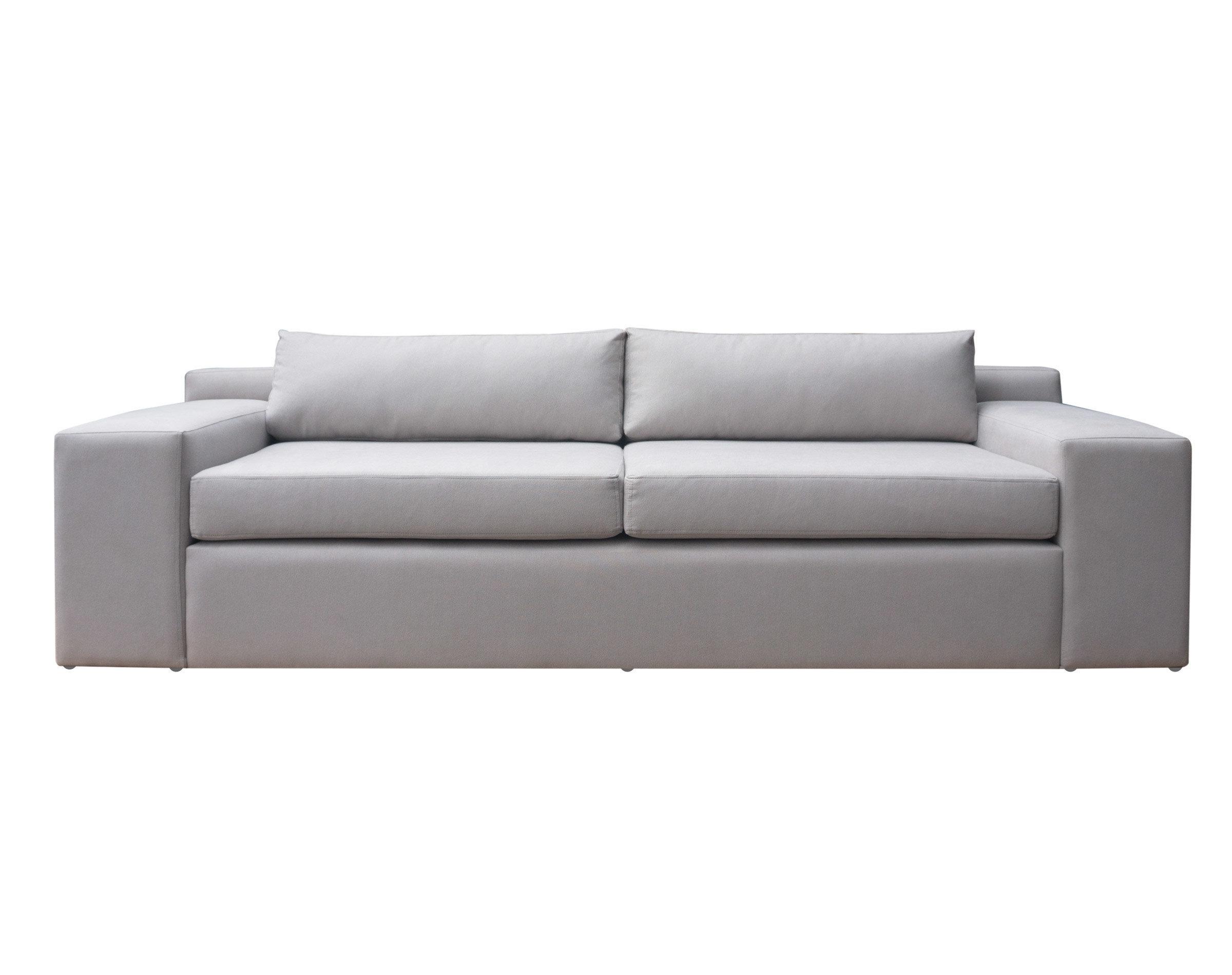 Elegante sofá de 3 cuerpos estilo minimalista y patas invisibles