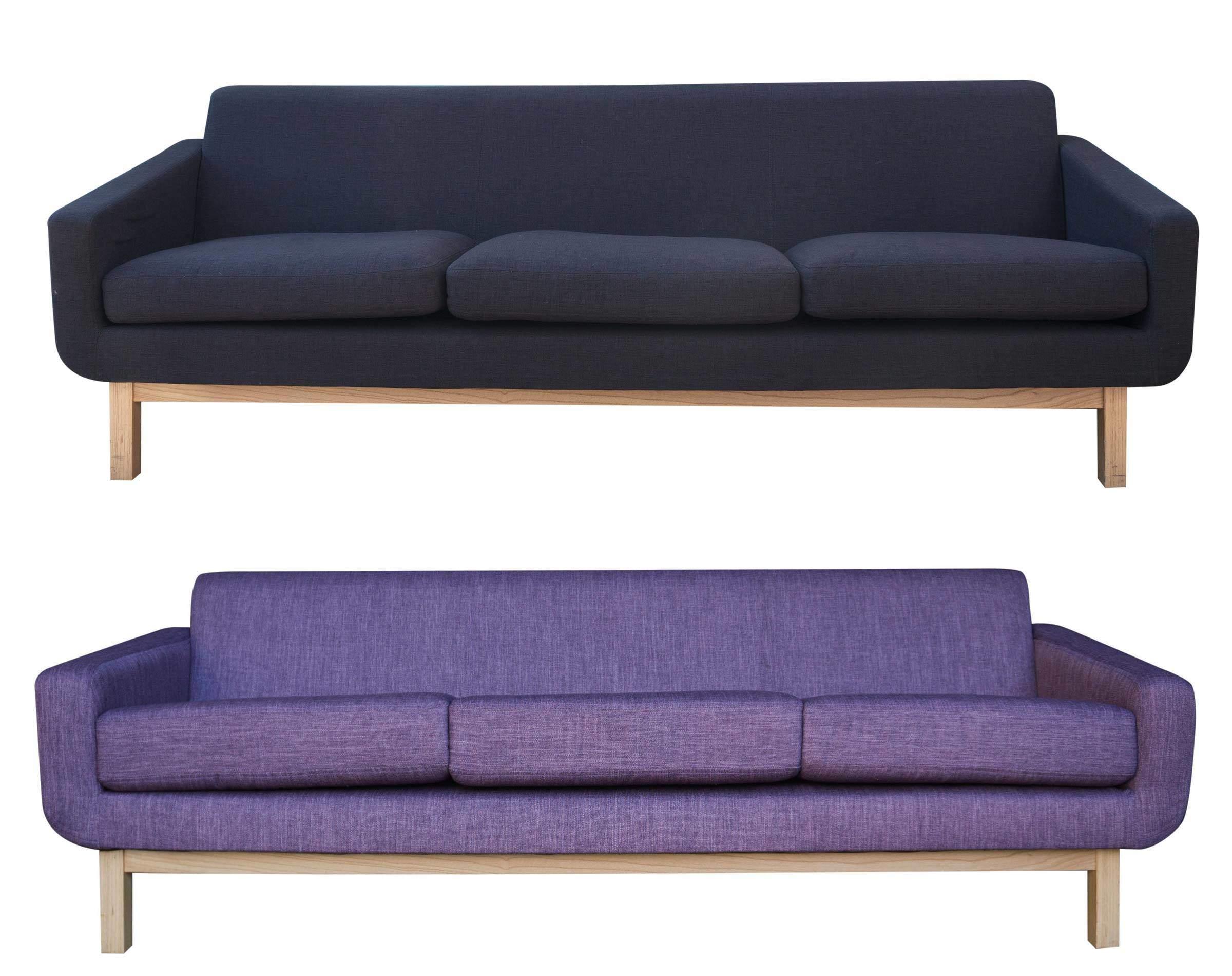 Retapizado de moderno sofa morado