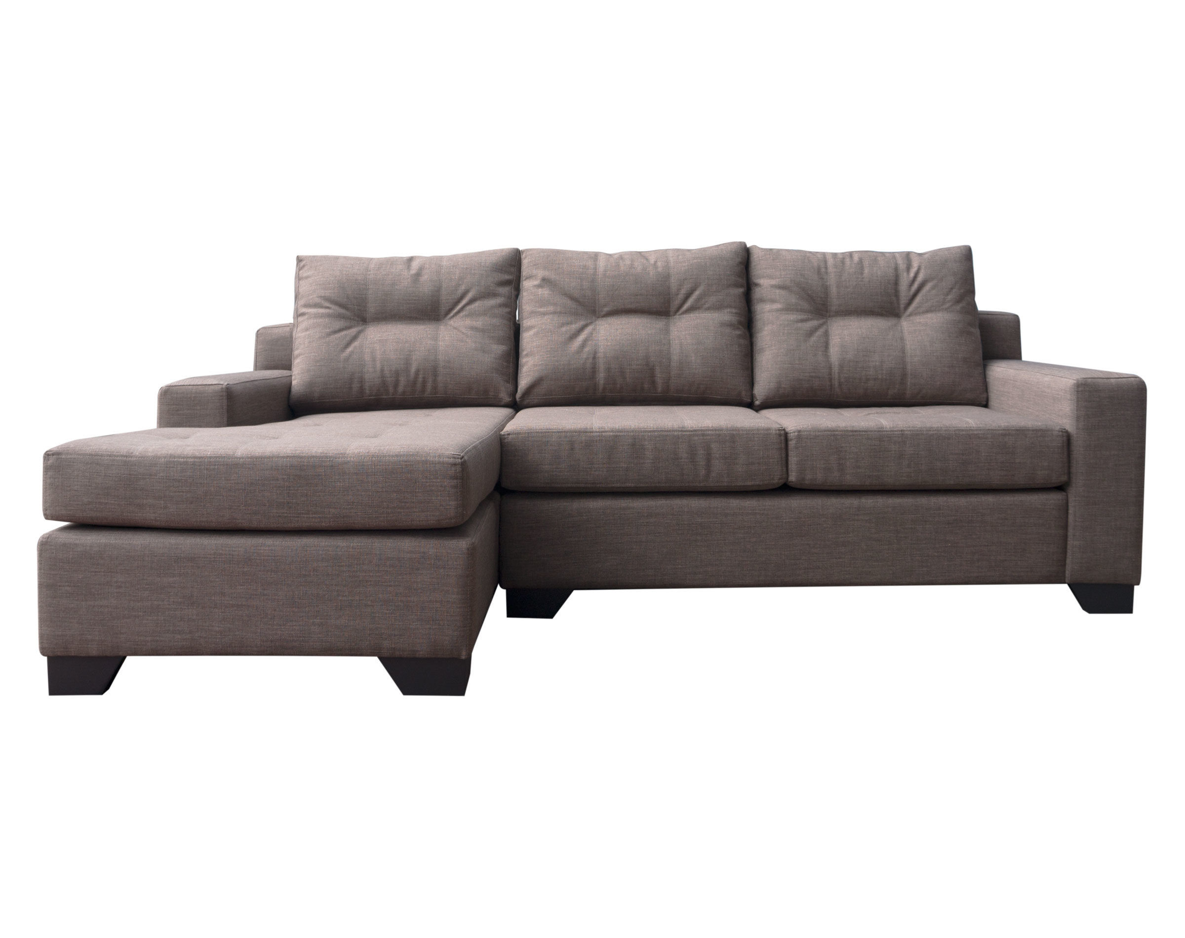 Sofá seccional personalizado con respaldo continuo