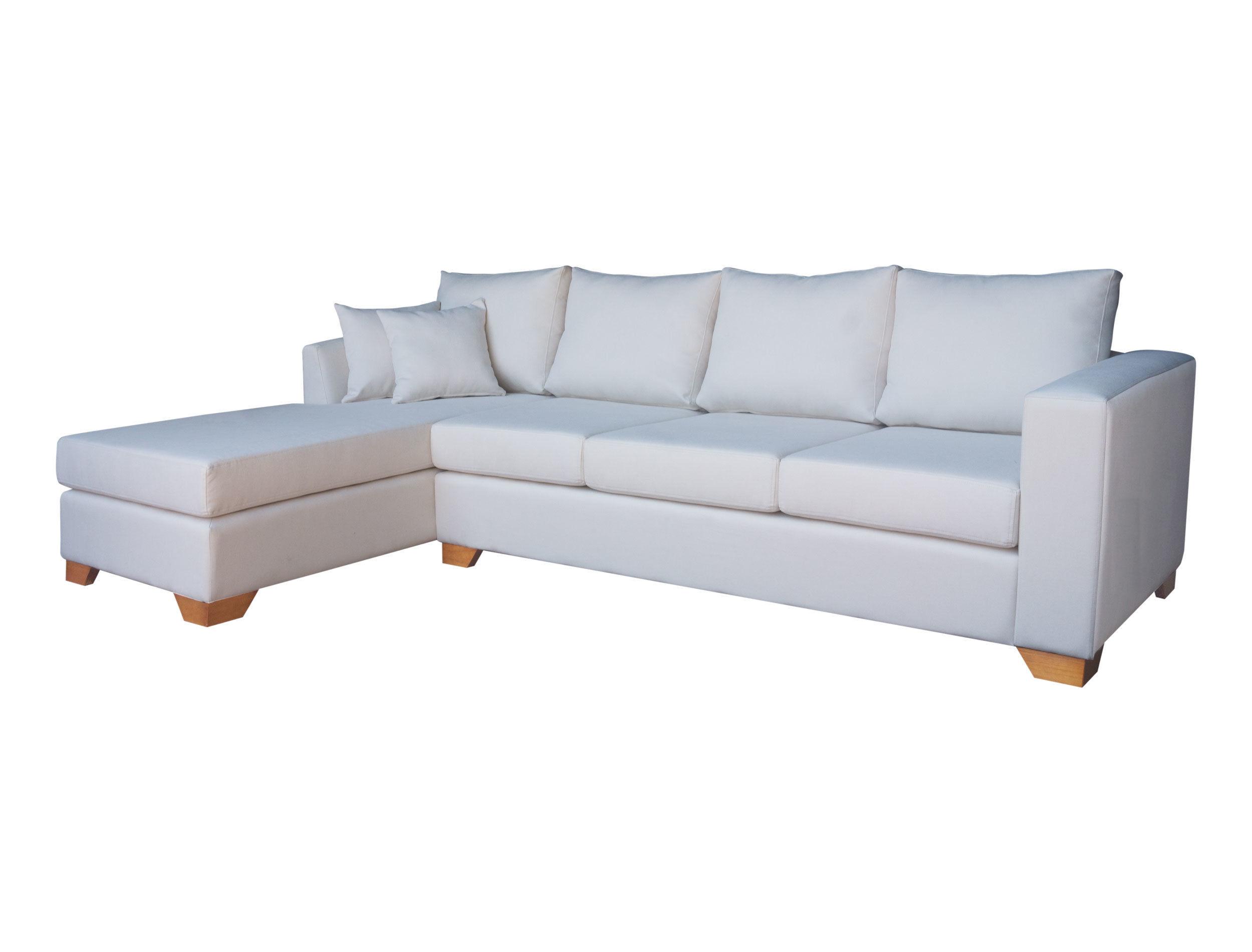 Sofá seccional personalizado 2.8m tapiz calafate crudo