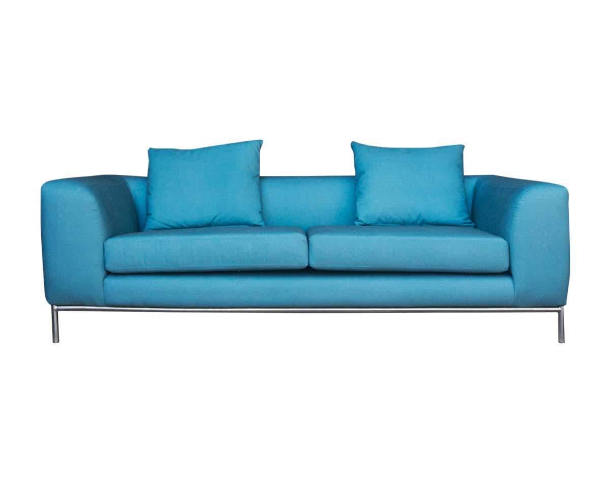 Sofá retapizado 3 cuerpos en lino color forest