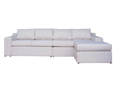 Sofa personalizado 4 cuerpos intercambiable tapiz beige
