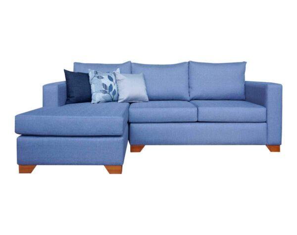 Sofá seccional mónaco tapiz misu waterproof gris