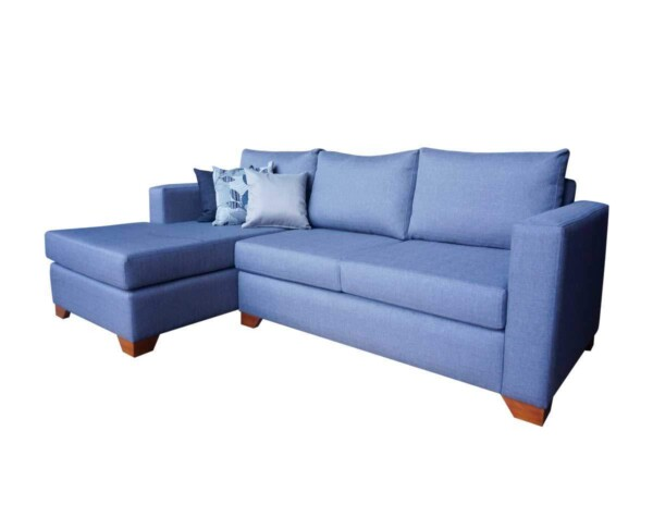 Sofa seccional monaco tapiz misu waterproof gris