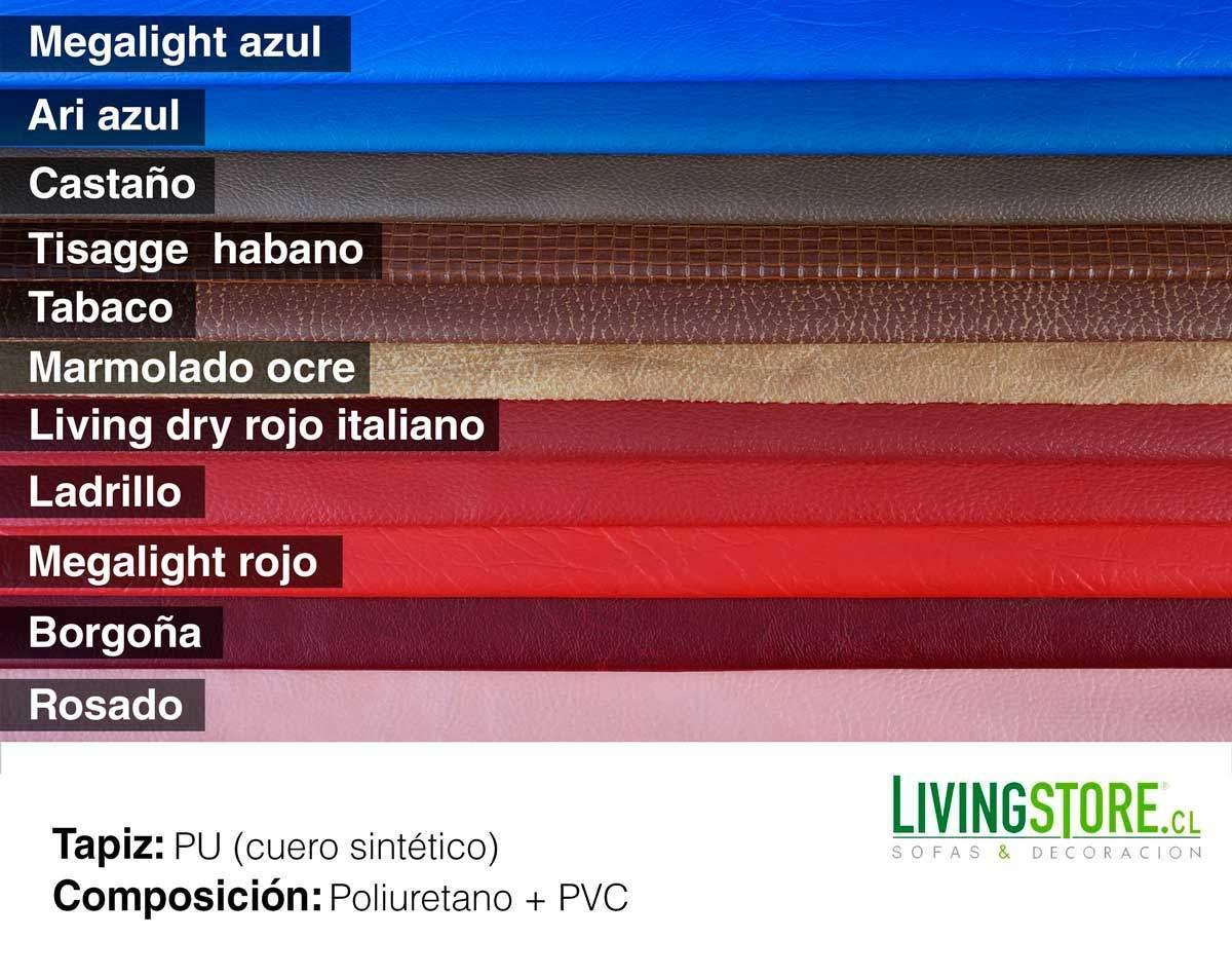 Tapiz Cuero Sintético PU colores variados en tonos azul y rojos