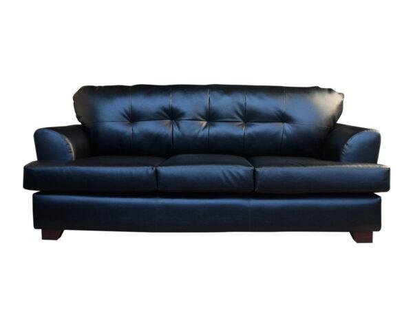 Retapizado de sofá en cuero pu negro