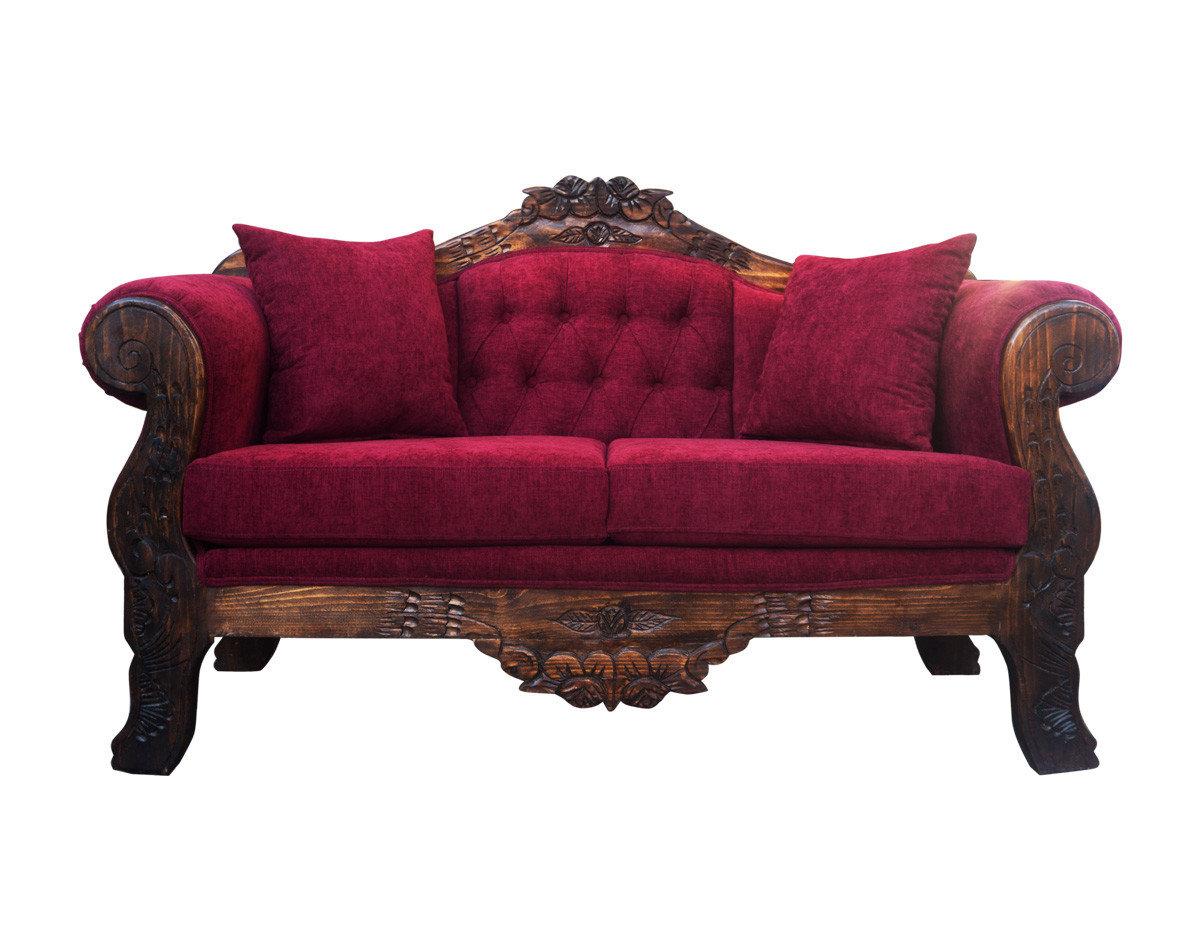 Retapizado antiguo sofá tapizado en Altea burdeo