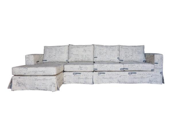 Sofá Seccional Mónaco con funda desmontable en lino