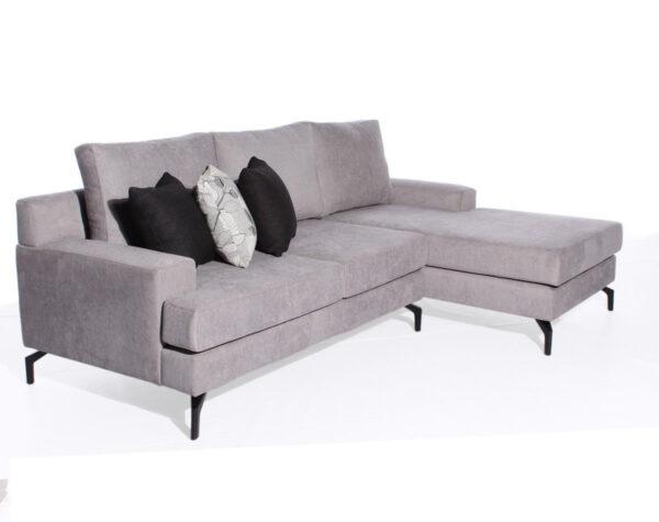 Sofá Seccional A Medida Con Patas Suspendidas color plata