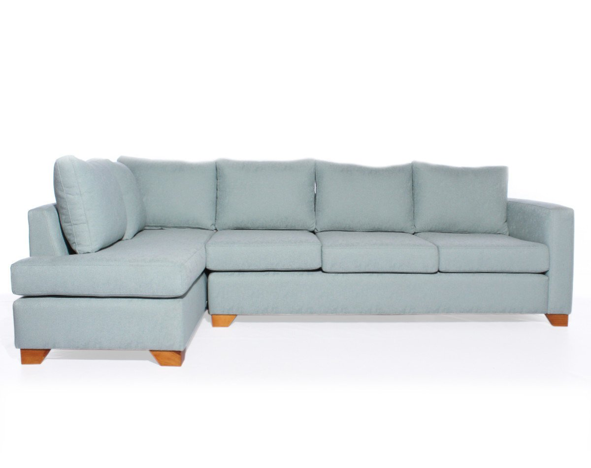 sofa seccional con respaldo en chaise longue personalizado