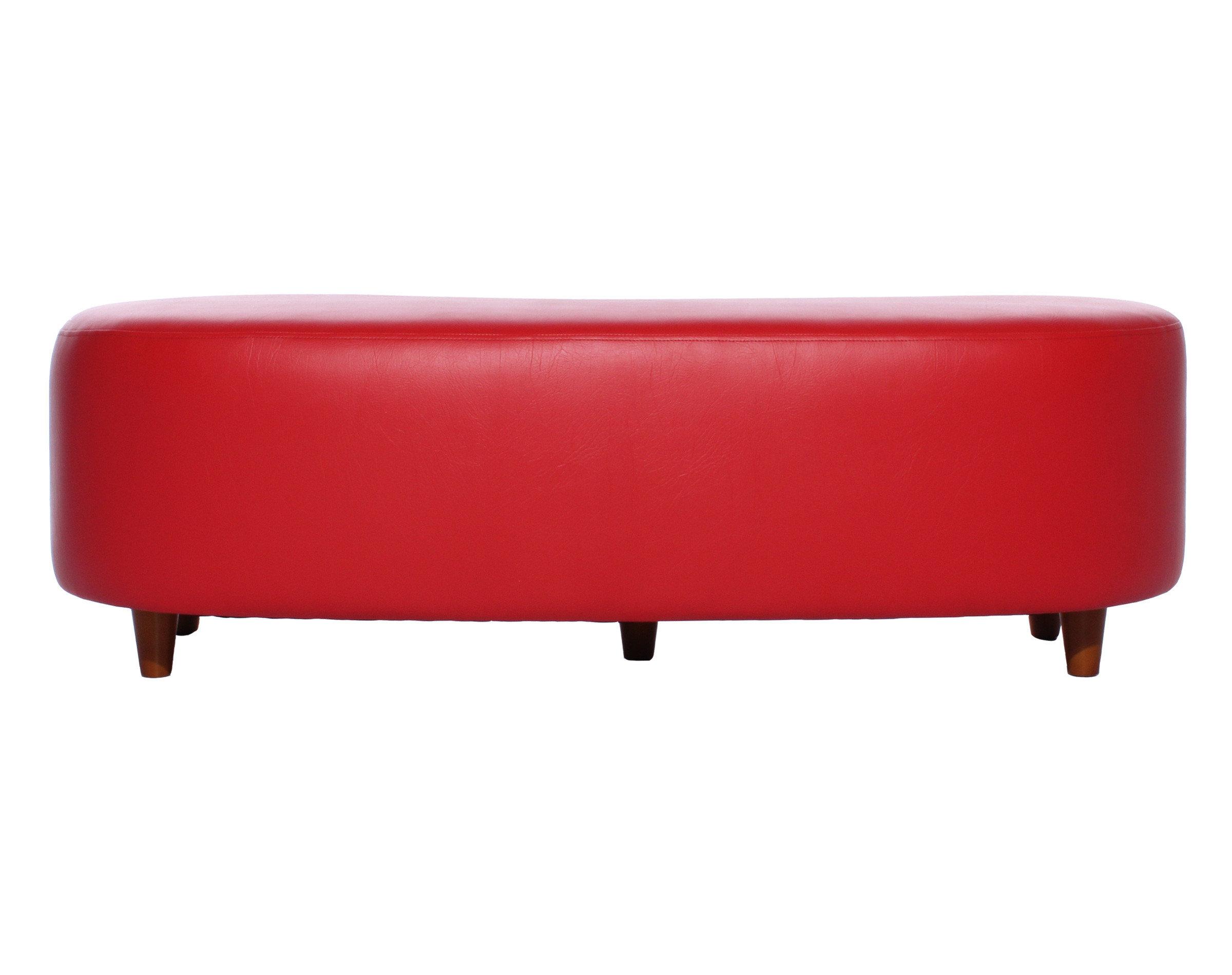Pouf Grano Cuero PU Megalight Rojo