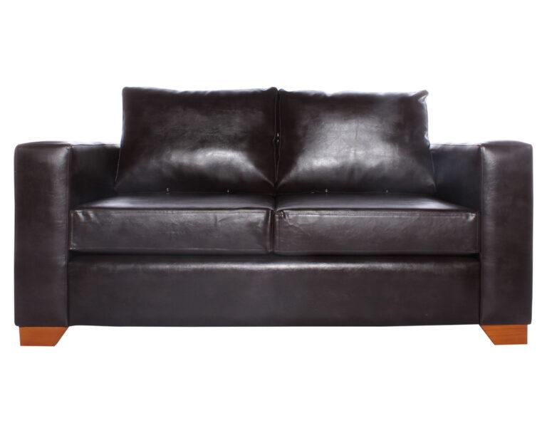 Sofa 2 cuerpos Monaco Cuero PU Clean Color Chocolate