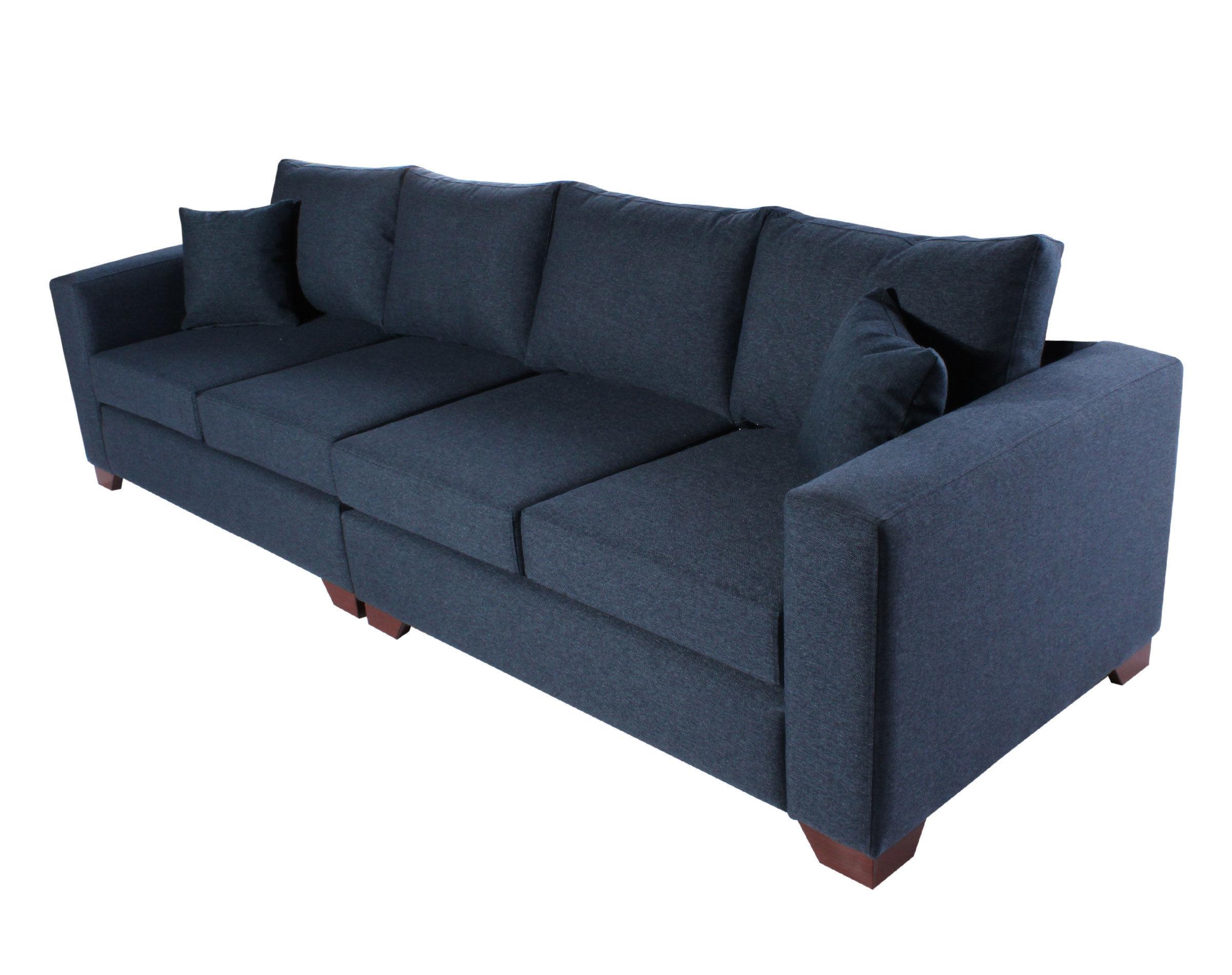 Sofa 4 Cuerpos Monaco XSD azul iso
