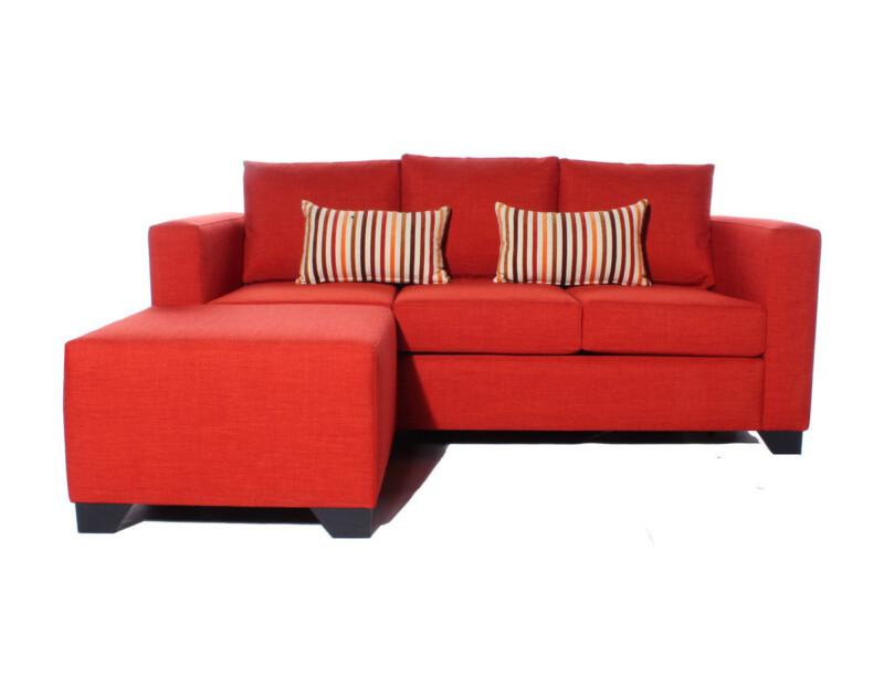 Sofa Cama A Medida Personalizado Con Pouf