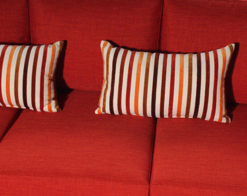 Cojinería decorativa para sofá cama a medida
