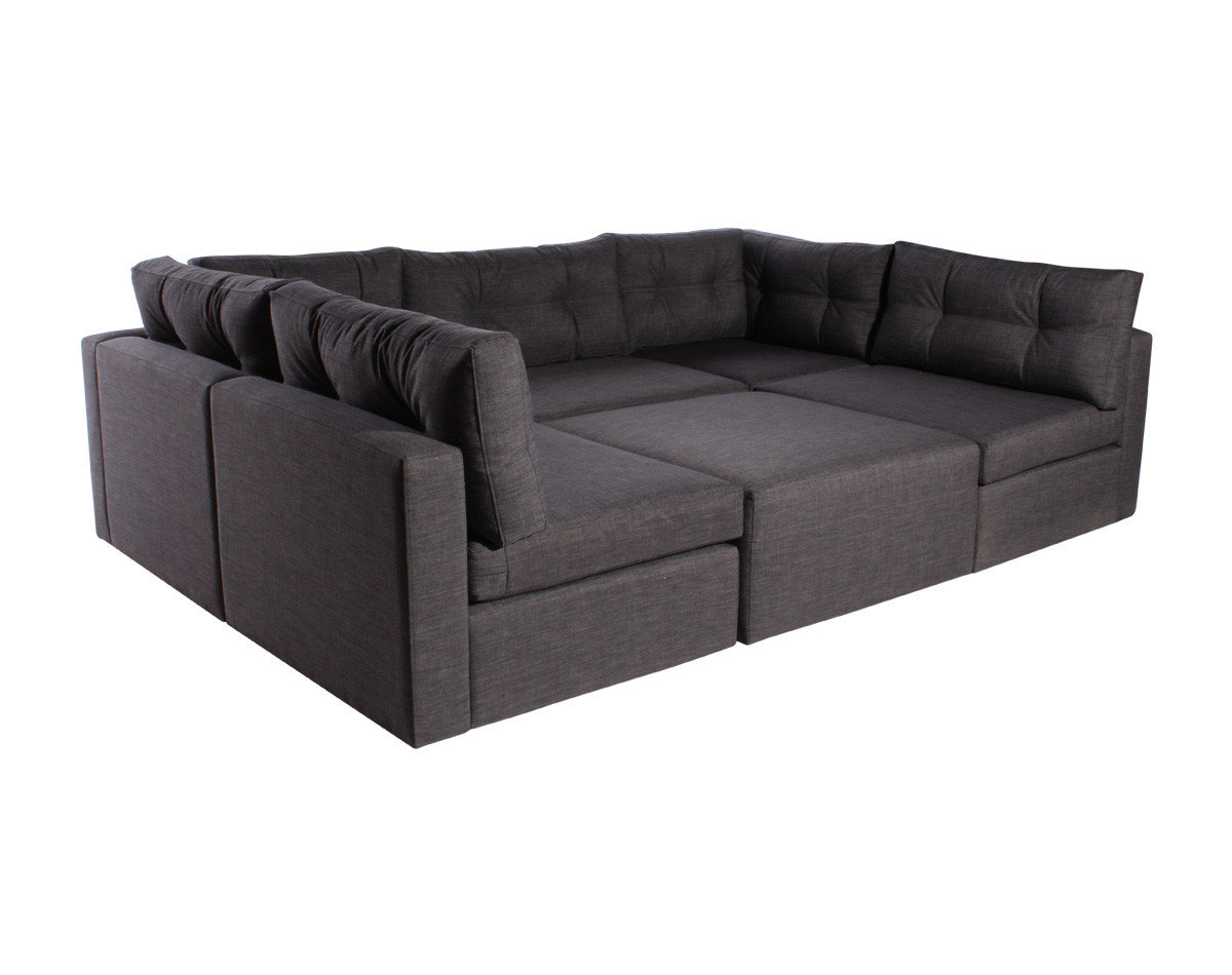 Sofa Modular Reconfigurable Con Pouf Bariloche Marengo