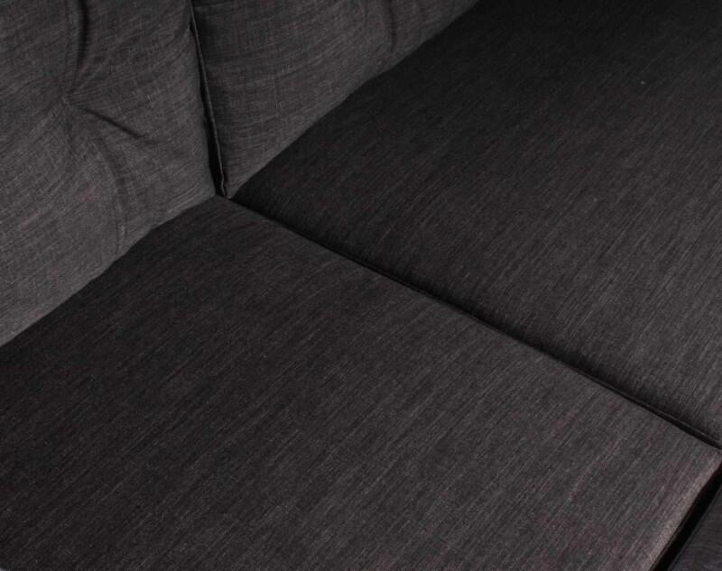 Sofa Modular Reconfigurable Con Pouf Bariloche Marengo detalle