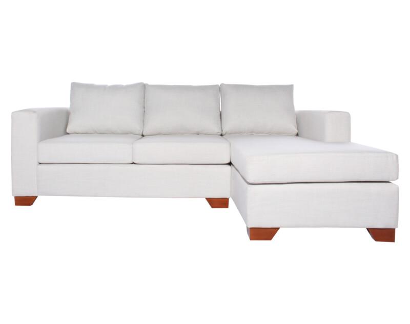 Sofa Seccional Monaco Derecho New York Antimanchas Crudo